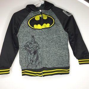 Batman hooded jacket w/ fleece lining, boy's sz 7.